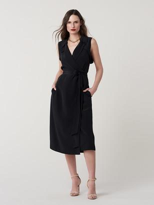 Diane von Furstenberg Augusta Silk Crepe de Chine Wrap Dress