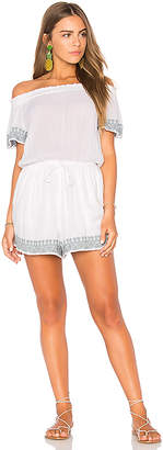 L*SPACE Spring Fling Romper in White $119 thestylecure.com