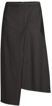 Robert Rodriguez Asymmetric Pinstripe Skirt