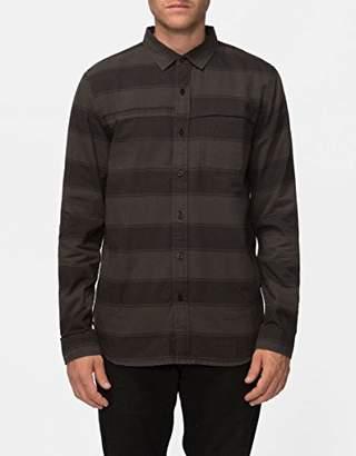 Tavik Men's Shin Long Sleeve Stripe Woven