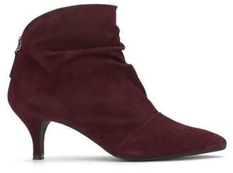 Mint Velvet Julie Burgundy Ankle Boots