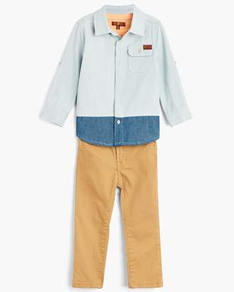 7 For All Mankind Boy's 2T-4T Denim Shirt & Tee & Jean in Light Wash