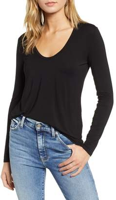 Splendid Scoop Neck Jersey Tee
