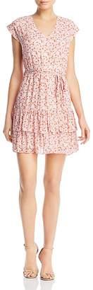 Aqua Ruffled Swirling Floral Print Dress - 100% Exclusive
