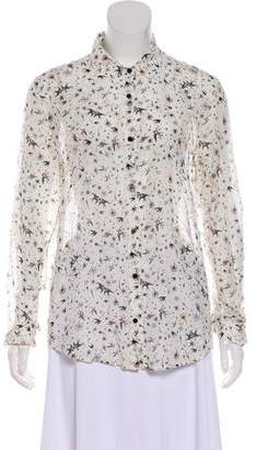 The Kooples Printed Button-Up Blouse