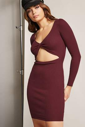 Forever 21 Ribbed Cutout Bodycon Dress