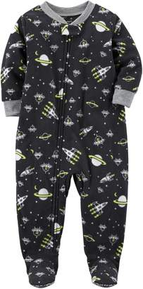 Carter's Boys' 12 Months-12 1 Piece Space Fleece Pajamas