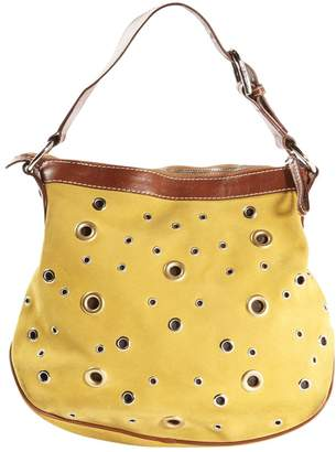 Dolce & Gabbana Yellow Suede Handbag