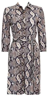 Wallis Stone Snake Print Shirt Dress