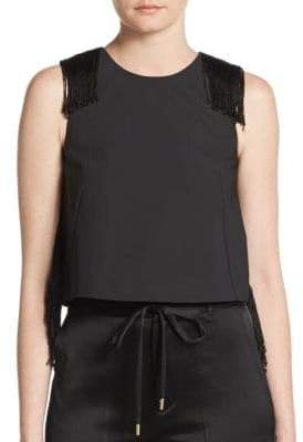 Derek Lam 10 Crosby Tassel Detailed Cropped Top