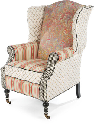 Mackenzie Childs Patisserie Wing Chair