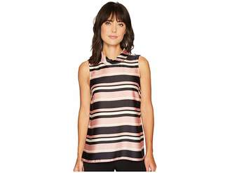 Vince Camuto Sleeveless Modern Chords Roll Neck Tunic Women's Blouse