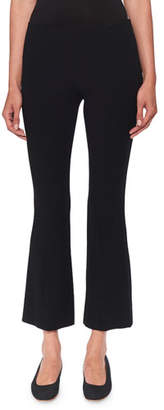 The Row Beca Cropped Wool-Blend Boot-Cut Pants