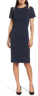 Women's Eliza J Cold Shoulder Sheath Dress $138 thestylecure.com