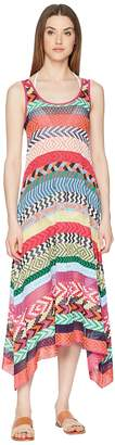 Mary Katrantzou Leandra Dress Fira Stripe Knit Cover-Up Women's Swimwear