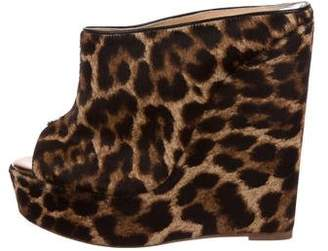 Christian Louboutin Affiche Leopard Wedges w/ Tags