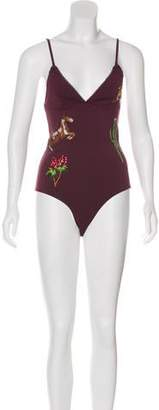 Stella McCartney Embroidered One-Piece Swimsuit w/ Tags