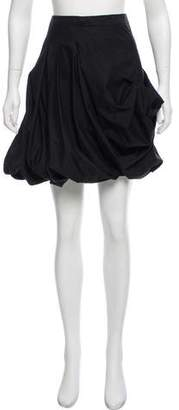 Paco Rabanne Ruched Knee-Length Skirt