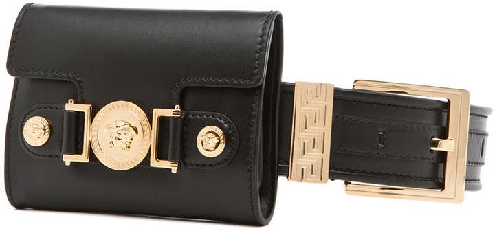 Versace Belt with Pouch in Black
