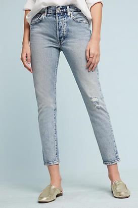 Levi's 501 Mid-Rise Straight Jeans $148 thestylecure.com