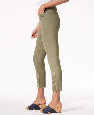 Style&Co. Style & Co Embroidered Raw-Hem Jeans, Created for Macy's