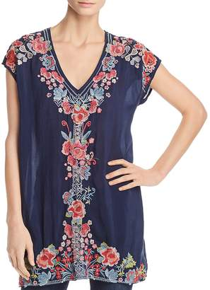 Johnny Was Collection Pari Embroidered Tunic Top