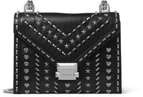 MICHAEL Michael Kors Whitney Studded Large Leather Shoulder Bag
