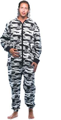 followme 6436-BLK-L Jumpsuit Adult Onesie Pajamas d8d4de193