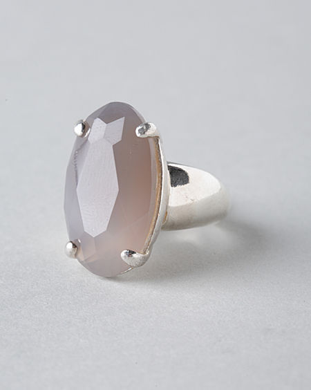Wouters & Hendrix Grey Agate Ring