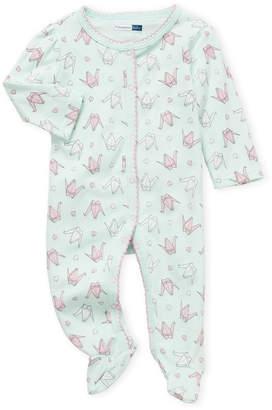 Vitamins Baby Newborn Girls) Paper Swans Print Footie