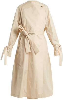 J.W.Anderson Oversized high-neck tie-waist cotton trench coat