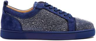 Christian Louboutin Louis Strass embellished low-top leather trainers