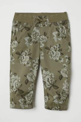 H&M 3/4-length Pull-on Pants - Green