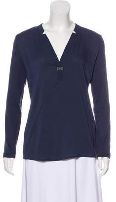 Fabiana Filippi Long Sleeve V-Neck Top