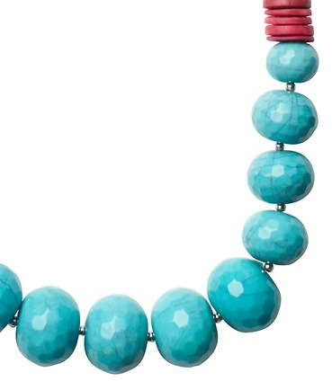 LOFT Long Bauble and Fireball Wooden Necklace