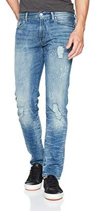Armani Exchange A|X Men's Loose Fit Paint Splatterd Jeans
