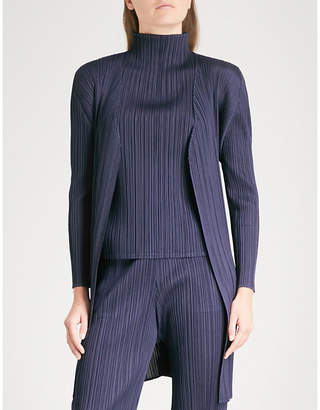 Pleats Please Issey Miyake Basics pleated coat