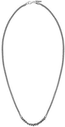 Emanuele Bicocchi Silver Crochet Necklace