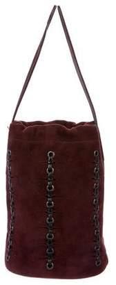 Gucci Suede Drawstring Bag