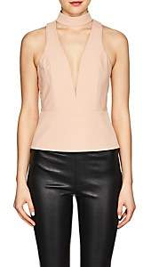 Mason by Michelle Mason WOMEN'S CREPE PEPLUM TOP-NEUTRAL SIZE 4