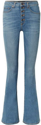 Veronica Beard Beverly High-rise Flared Jeans - Light denim
