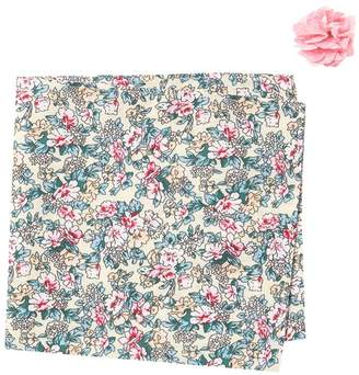 Original Penguin Light Ground Floral Pin & Pocket Square Set