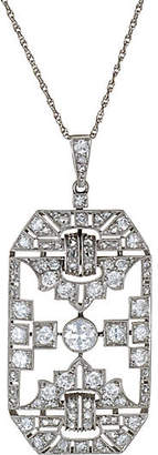 One Kings Lane Vintage Platinum Art Deco Diamond Necklace - Precious & Rare Pieces