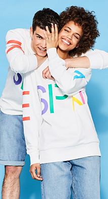 Esprit RETRO COLLECTION: Unisex logo sweatshirt