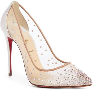 Christian Louboutin Follies Strass Pointy Toe Pump
