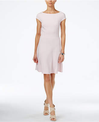 Armani Exchange Boat-Neck A-Line Dress, a Macy's Exclusive Style $115 thestylecure.com