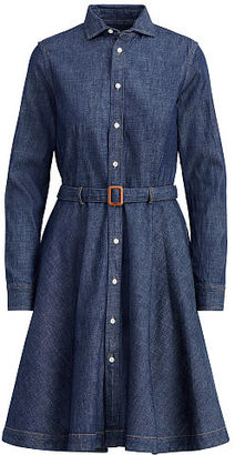 Polo Ralph Lauren Belted Denim Shirtdress $298 thestylecure.com