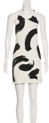 Celine Jacquard Brush Stroke Dress