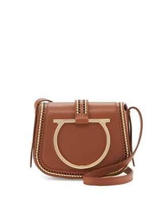 Salvatore Ferragamo Sabine Small Gancio Crossbody Bag, Ecorce $1,950 thestylecure.com