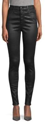 AG Jeans Super High-Rise Faux Leather Skinny Jeans